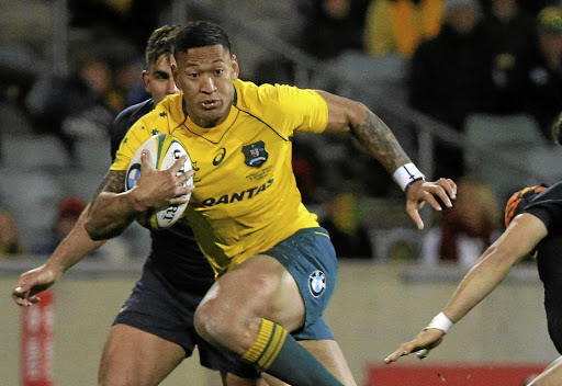Breaking bad: Israel Folau will capitalise on any loose kicking by the Boks. Picture: REUTERS