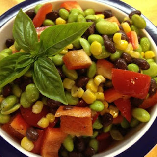 Edamame, Sweet Corn and Black Bean Salad