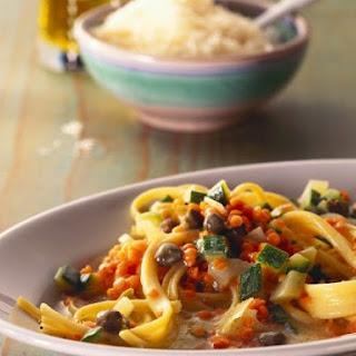 Lentil and Caper Pasta.