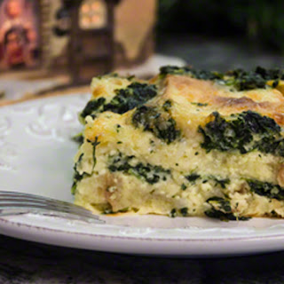 Strata with Spinach and Gruyère Cheese