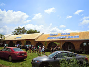 Photo: Visit to Hope Eden Village 2014. They have a healthy solar system for the whole community! The farm also doubles as a school for the workers and some area children.