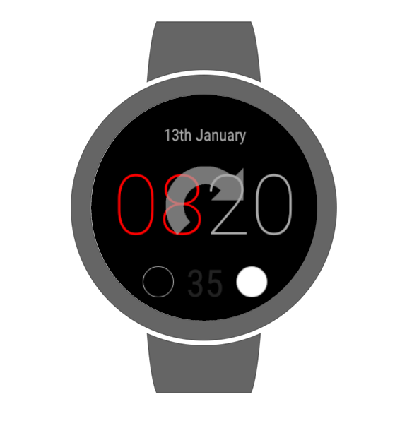 Rotating Watch Face- screenshot