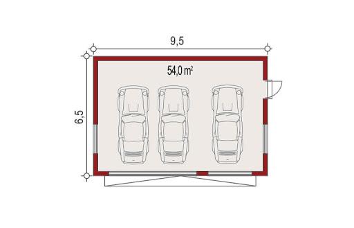 APG-2 wersja E - Rzut garażu
