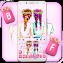 Floral Best Friends Keyboard Theme
