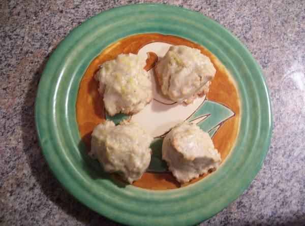 Double Vanilla Cookies With Lemon Glaze Recipe