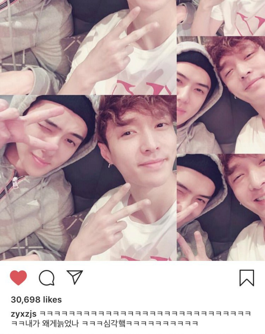 lay insta update sehun