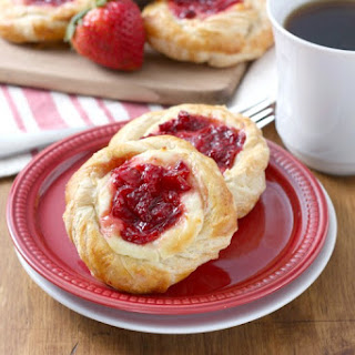 Strawberries and Cream Danish