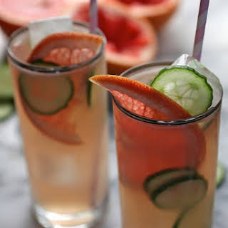 Grapefruit Cucumber Cocktails.