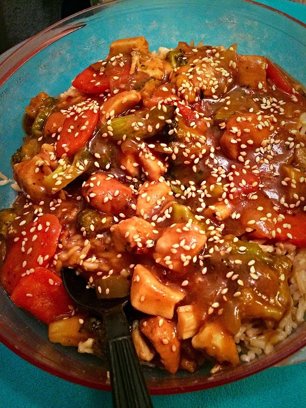 Pineapple-citrus Teriyaki Chicken & Veggie Stir-fry Recipe