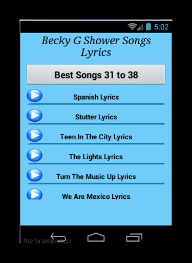 becky g shower music download