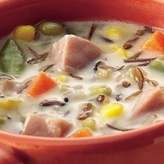 Slow-Cooker Ham and Wild Rice Soup.