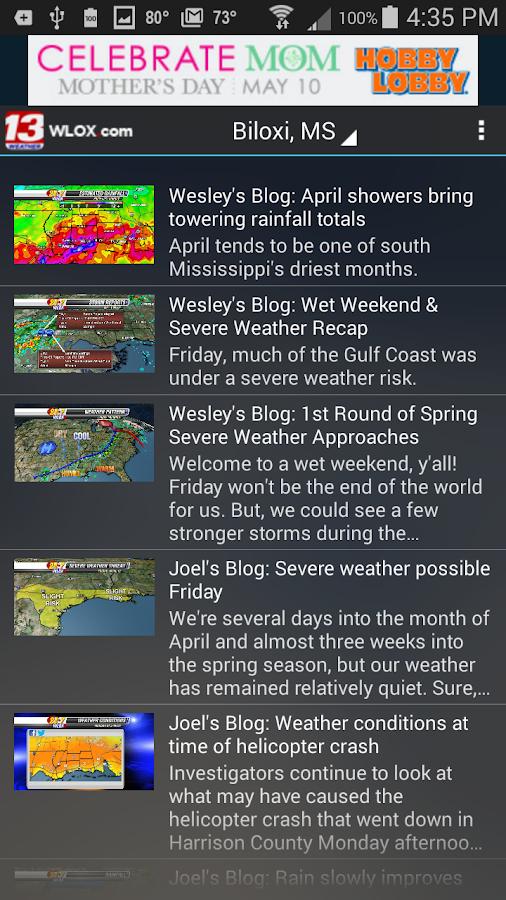 WLOX 24/7 Weather - screenshot