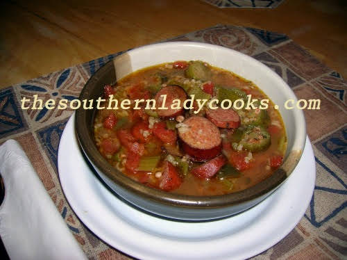CROCK POT SMOKED SAUSAGE GUMBO