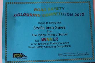 Photo: Szofi nyert egy színező versenyen :)