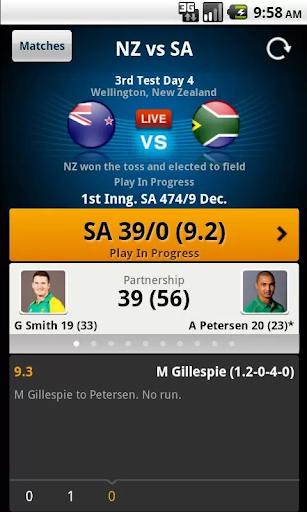 Yahoo Cricket screenshot 3