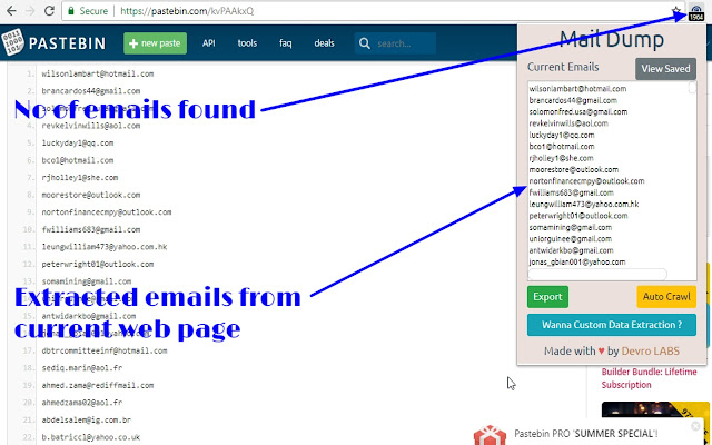 Mail Dump - Chrome Web Store