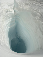 Photo: You don't want to fall into one of the Linda's crevasses.