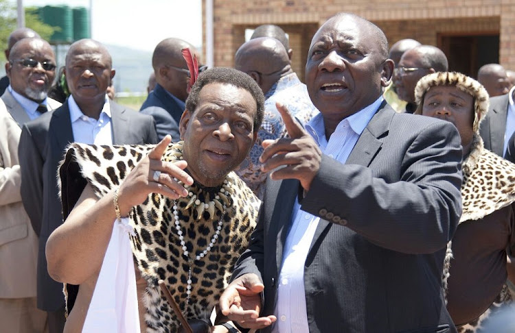 President Cyril Ramaphosa and Zulu King Goodwill Zwelithini.