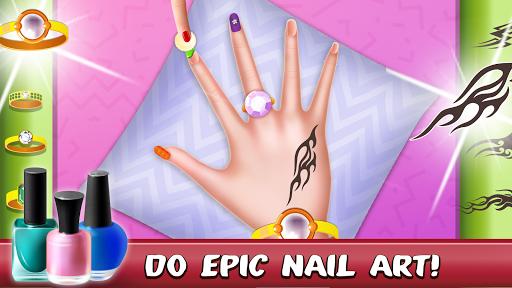 Nail Art Salon Makeover: Fashion Games android2mod screenshots 9