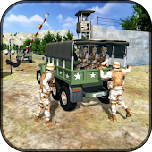 US Army Off-road Truck Driver 3D