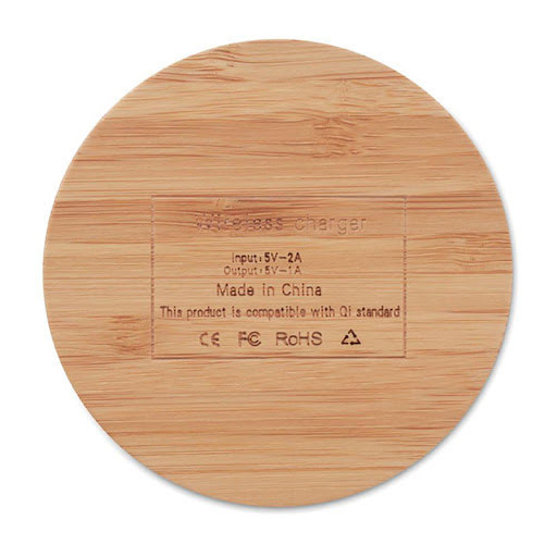 Bamboo Wireless Charger Coaster