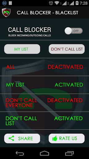Call Blocker - Blacklist