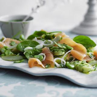Smoked Salmon and Potato Salad with Herb Vinaigrette.