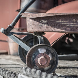 Worn Wagon by Eva Ryan - Artistic Objects Antiques ( muscle car ranch, broken, wheels, worn, old, wagon, chickasha, antique, oklahoma, child's toy,  )