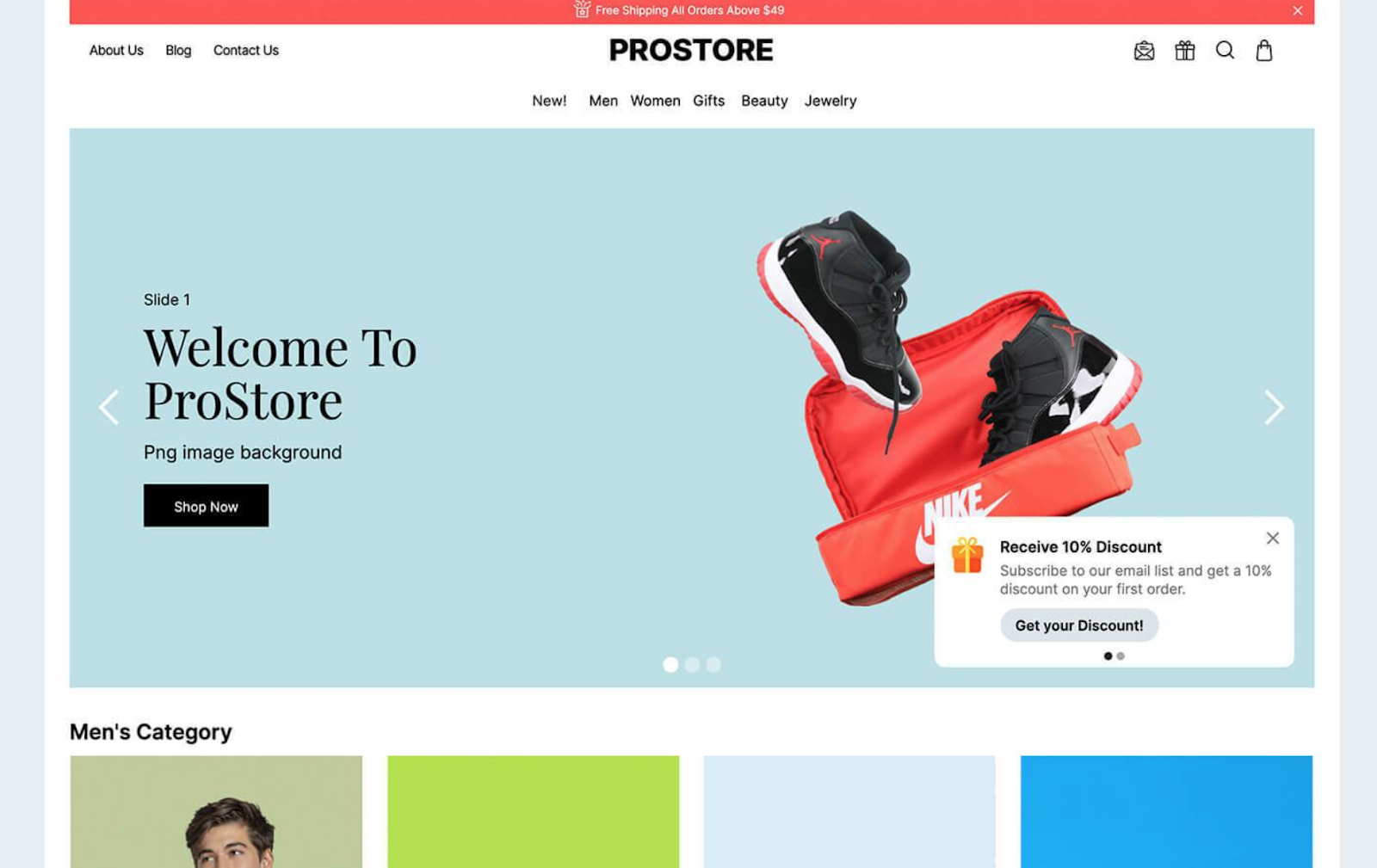 ProStores Webflow eCommerce Template