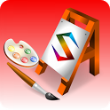 Watercolors painting icon