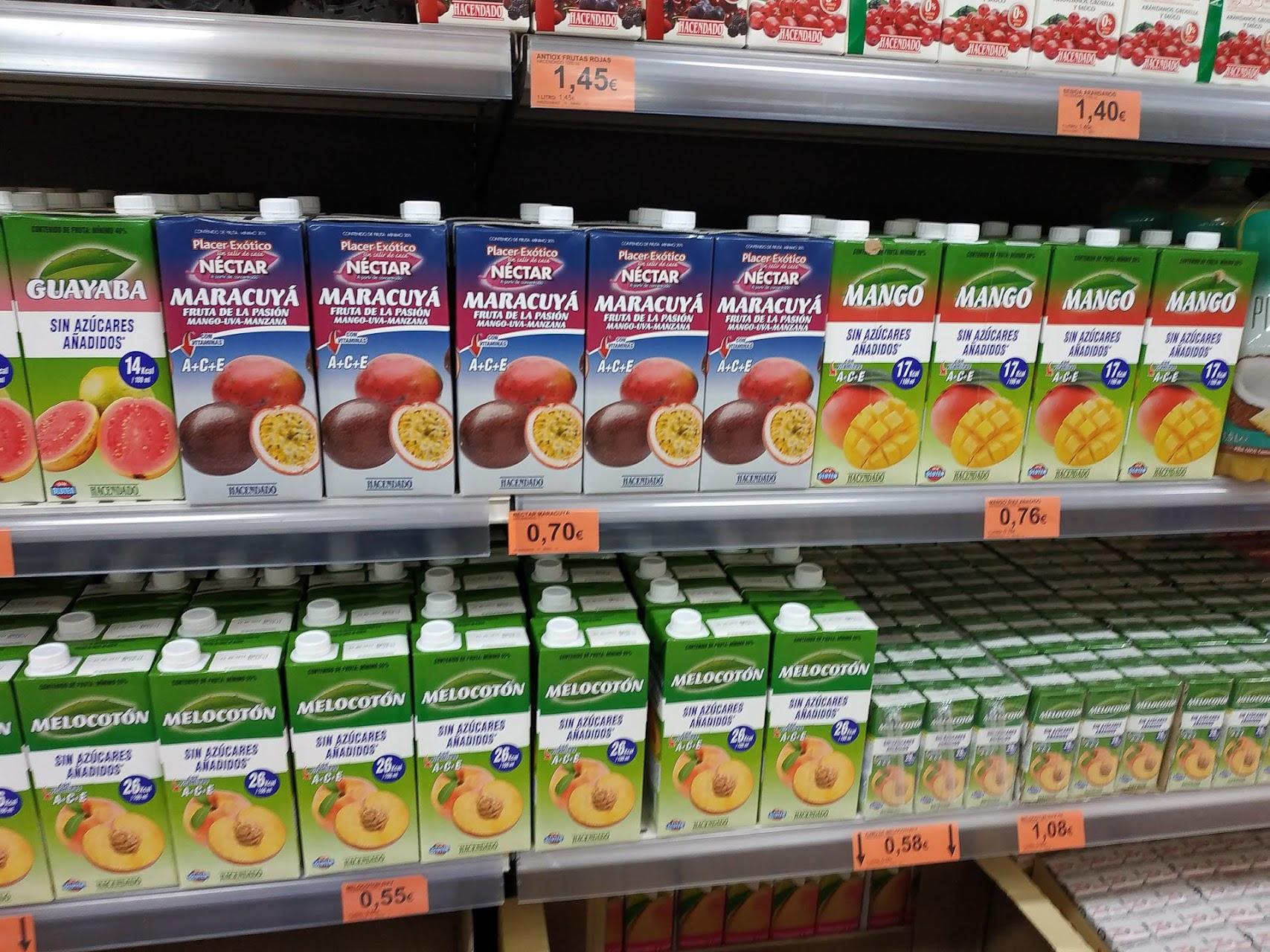 Нектары из манго, маракуци, персиков и абрикосов