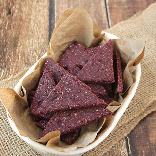 Buckwheat Beet & Flaxseed Crackers