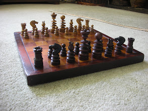 Photo: A St George set in box/rosewood (apart from knights heads). One of my early sets, bought in the 1970's , for which I have great affection.