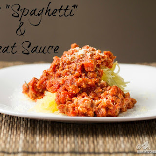 """Spicy """"Spaghetti"""" & Meat Sauce."""