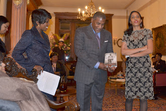 Photo: Cheryl Wills, NY1 with Rev. Conrad and Temecca Tillard, Honorees