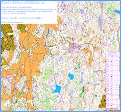 Photo: Jukola 2012 leg 3 on a Karttapullautin map