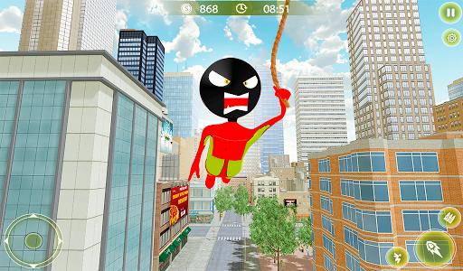 Stickman Crime City War - Stick Rope Hero Game 3 screenshots 9