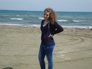 Photo: Christina at the Larnaka seaside.
