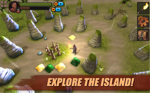 Survival Game: Lost Island PRO game for Android screenshot