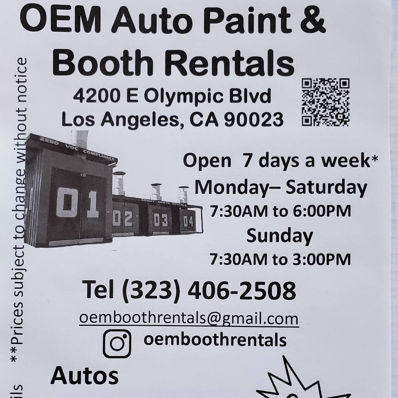 Paint Booth Rental >> Oem Auto Paint Spray Booth Rentals Auto Parts Store In