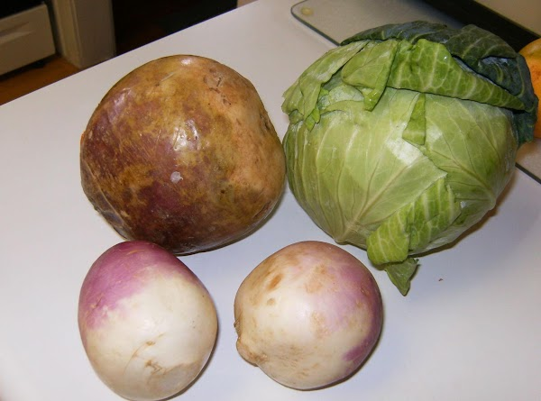 Rutabagas, Cabbage and Turnips
