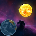 Planets in universe wallpaper icon
