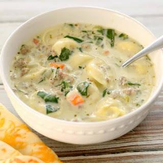 Creamy Sausage Tortellini Soup.