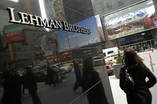 Lehman Brothers. Picture: BLOOMBERG NEWS/DANIEL BARRY
