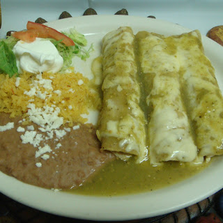 Green Cream Enchiladas