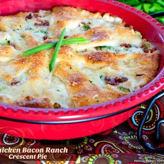 Chicken Bacon Ranch Crescent Pie.