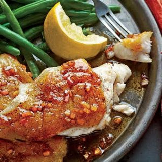 Pan-Seared Grouper with Balsamic Brown Butter Sauce.