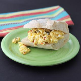 Pepper and Egg Sandwich.