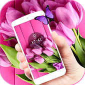 Purple Tulip Bloom Aroma Theme