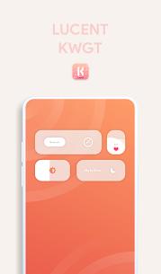 Lucent KWGT – Translucence Based Widgets Paid 3.3 Latest Mod APK Free Download 1